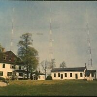 Staten Island New York WBBR Radio Transmitted by Telephone Lines Chrome Posted