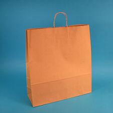 110 Premium Papiertragetaschen Papiertüten mit Kordel braun 110g/m² 54+15x49cm