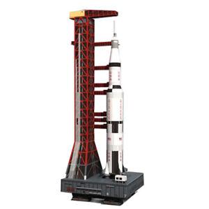 1:130 Scale DIY 3D Paper Model Saturn V Rocket Aerospace Science Puzzle DIY Gift