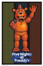 FIVE NIGHTS AT FREDDY'S - BLACKLIGHT POSTER - 24X36 FLOCKED FREDDY 14833