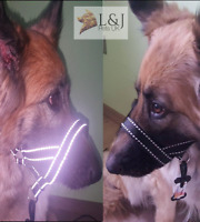 Reflective Padded Head Collar Dog Training Halter Stops Dog Pulling