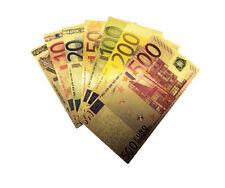 Gold billetes euro set 7 trozo de color lingote de oro oro apariencias regalo souvenir