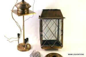 American Lantern 1295WB 22x13x13 Light Fixture Ceiling Antique Brass Vintage