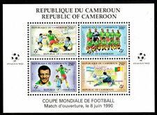 Cameroun Scott #851a VF MNH 1990 World Cup Soccer Championships Souvenir Sheet