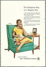 1958 BELL TELEPHONE advertisement, Housewife, sexist household chores