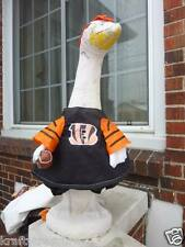 LAWN GOOSE CLOTHES CINCINNATI BENGALS FOOTBALL CEMENT PLASTIC COTTON GARDEN