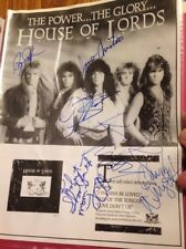 House Of Lords CD Release invite, signed, Gene Simmons Sahara Hotel 10/15/1988
