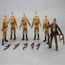 Lot 6 Indiana Jones Russian Soldiers Troopers Movie series Action Figure M9