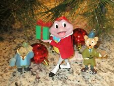 Disney Parks Wind in the Willows Mr. Toad's Wild Ride Rat Mole 3 Xmas Ornaments