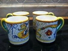 Deruta Majolica Italian Pottery - Raffaellesco - Set of 4 MUGS -- New!