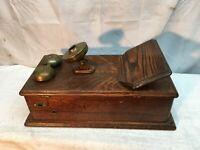 Kellogg Hand Crank Wall Telephone Phone Wood Case Only Parts Repair
