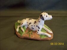 CHARMSTONE DALMATIAN DOG LYING DOWN, STAMPED, HAND PAINTED COLD CAST MARBLE EARL