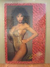 vintage Maria Whittaker 1987 Hot girl car garage man cave  Original Poster 4128