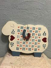 primitive handcrafted wooden sheep checkerboard and checkers