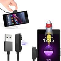 LED Aluminum Magnet USB Ladegerät Ladekabel für Sony Xperia Z1 Z2 Z3 Z3 Compact!
