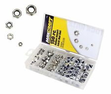 150 Pc Nylon Insert Lock Nut Assortment Steel Sae Zinc Plated Maxcraft 7692