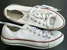 CONVERSE  WOMENS YOUTHS UK 6 EU 39 WHITE CANVAS TRAINERS RUNNING CASUAL SHOES