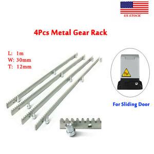 4Pcs Metal Gear Rack 12MM Tickness 1M Gear Rack Track Sliding Gate Opener US