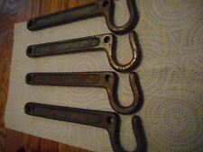 (4) Vintage Hardware 7 inch Hooks