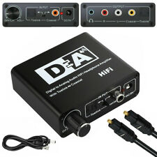 192kHz Digital Optical Coaxial Toslink to Analog Audio Converter RCA L/R 3.5mm