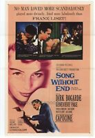 SONG WITHOUT END Movie POSTER 27x40 Dirk Bogarde Capucine Genevieve Page