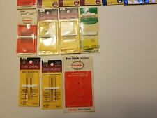 Lot of new Quilting Needles - 20 Unopened Packs of  Various Sizes an Brands