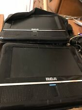 """New listing Lot of 2 Rca 7"""" Mobile Dvd Player With Built in Double Speakers 4 Car Headrest"""