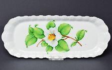 Giraud Limoges France Porzellan Platte Anbietplatte handbemalt Blume