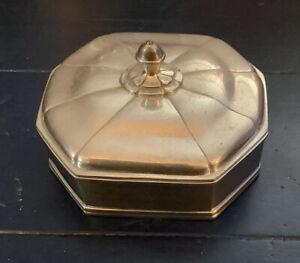 "Vintage Pierre Deux Etains Pewter Lidded  5"" Trinket Jewelry Box Square France"