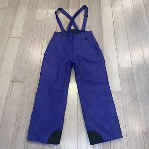 VTG Columbia Ski Bib Snow Suit Pants Purple Insulated Snowsuit Womens XL