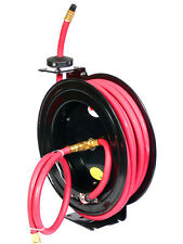 1/2' x 25 Ft Feet Retactable Rubber Air Hose Reel 300 Psi Free Shipping