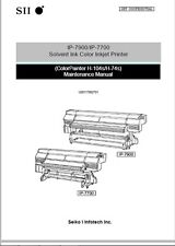 Seiko H service manual, Wide format printer maintenance manual IP-7900/IP-7700