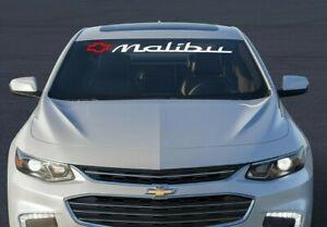 Malibu Window Sticker Vinyl Decal Chevrolet Car Graphics Ready to Install