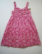 NWT NICOLE MILLER Sleeveless Girl Dress Pink and Cream Size M