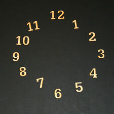 Numbers on a Clock Set of 15 - 2 inch by 1/8 inch Sans Serif Font  (LETR02)