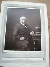 Ferdinand FABRE cliché photoglyptie de NADAR Galerie Contemporaine 1880