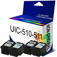 4 Pack PG-510 & CL-511 B & C NON-OEM Ink Cartridge for Pixma MP280 MP495 MP253