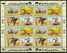 Nations Unies Uno Rhinoceros Aratinga Singe Douc Monkey Ory Gazelle  ** 1995 30€