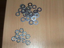 200 M8 BZP WASHERS AND 100 FULL M8 NUTS