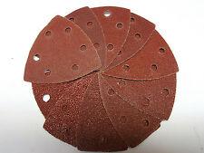 10pc 90 mm Hook & Loop Delta Sanding Pads Palm Sander Grinder File Woodwork ab002