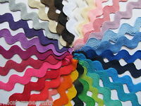Jumbo Ric Rac Trim 11mm/15mm Width 3 METRES 30 Colours Available Rick Rack 3m