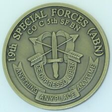 US Army 19th Special Forces (ABN) Co C 5th SF BN BK 98-7 Challenge Coin AB