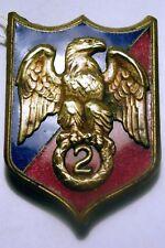 insigne obsolète militaire gendarmerie 2 eme régiment garde