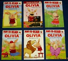 Olivia:  Lot of  6  NEW  Ready-to-Read Books  - Cat, Vet, Rain Dance  &  3 More
