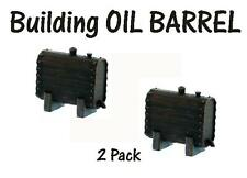 Building side Oil Barrel.Oil Barrel.Oil Barrel.Ho Scale Finished 2 Pack