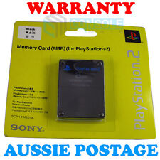 PS2 8MB MEMORY CARD - - Genuine Sony - - New Sealed Pack - - Official - - Black