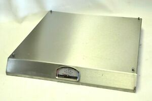 """PizzaQue Pizza Stainless Steel Base ONLY w/ Thermometer Fire Grill 15x16"""""""