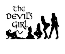 The Devils Girl Aufkleber Fun Sticker Teufel Frau Autoaufkleber decal 24 #8238