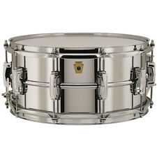 "Ludwig LB402B Supraphonic Chrome-Over-Brass Snare Drum, 6.5"" x 14"""