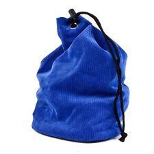 New Drawstring Chess Pieces Bag – Locking Clasp - Blue